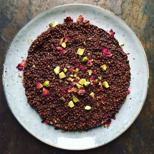 Healthy cake made with Quinoa and Cacao