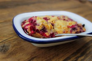Baked Raspberry and Coconut Oats