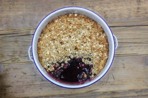 Blackberry and Blueberry Crumble